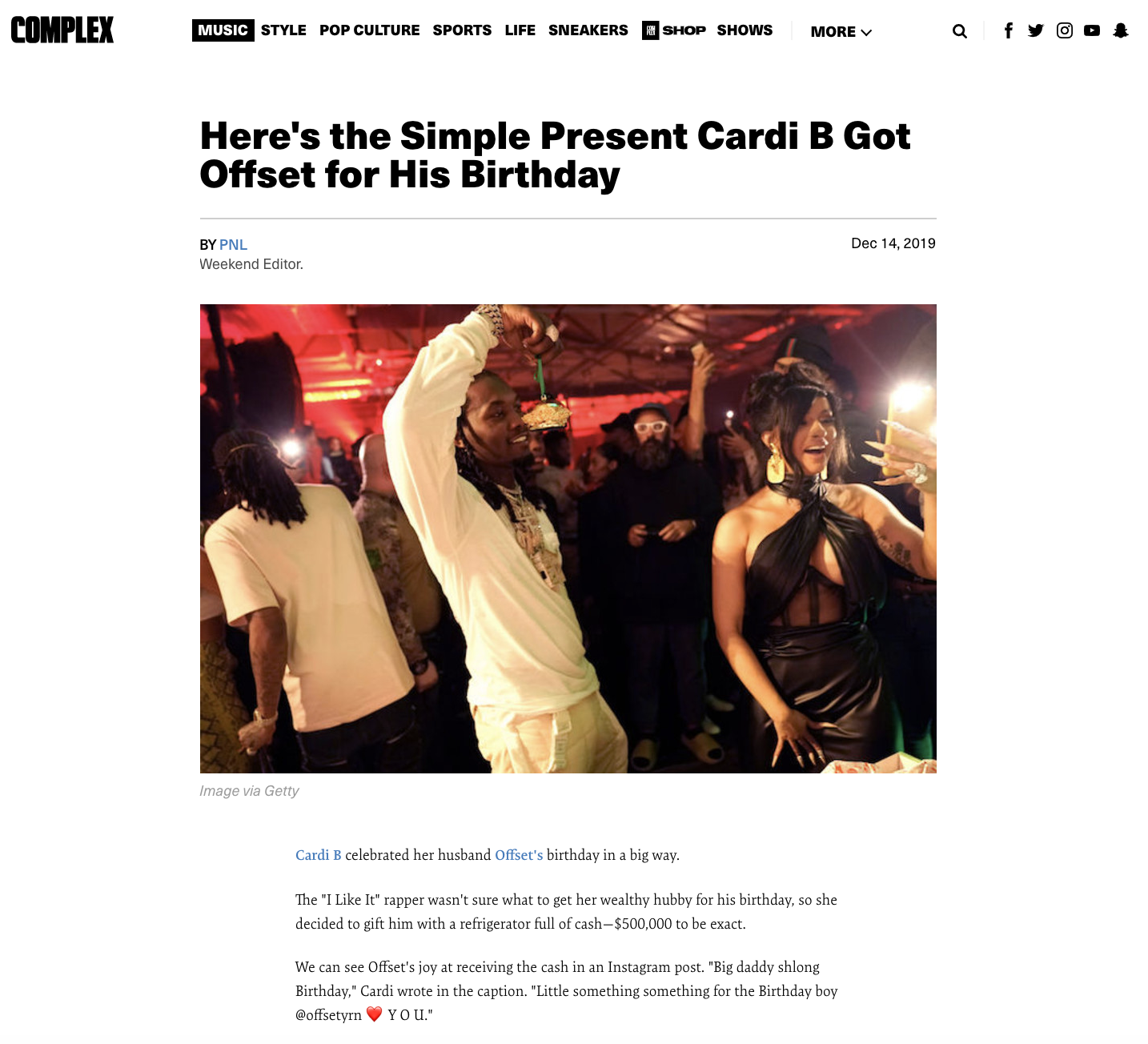 Here's the Simple Present Cardi B Got Offset for His Birthday